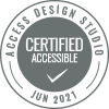 Accessibility Certification badge from Access Design Studio