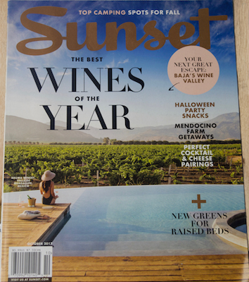 Sunset Magazine cover The Best Wines of the Year
