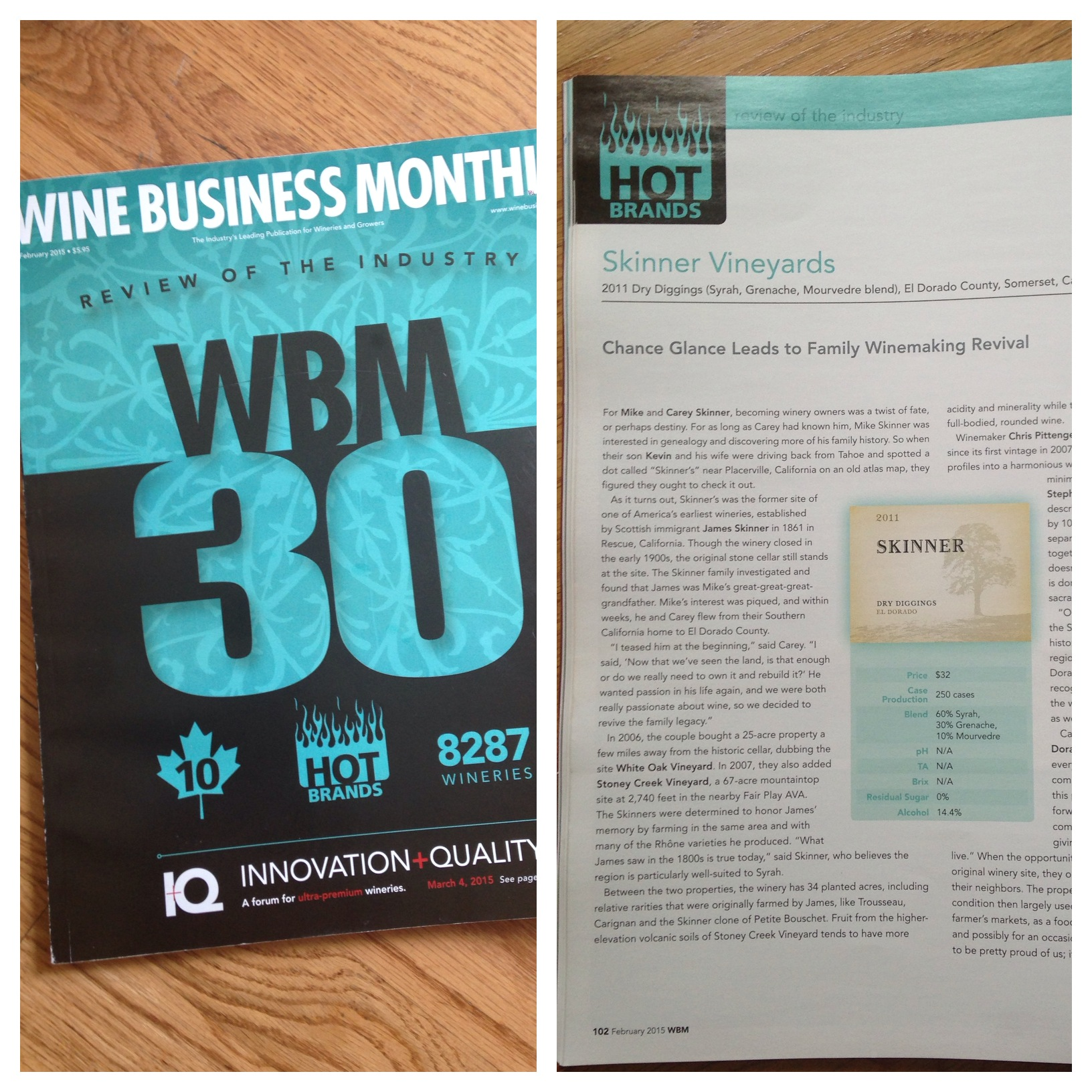Cover of Wine Business Month